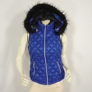 NWT SAKS FIFTH AVENUE BLUE QUILTED DOWN JACKET XL